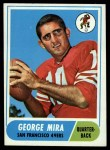 1968 Topps #9  George Mira  Front Thumbnail