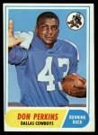 1968 Topps #50  Don Perkins  Front Thumbnail