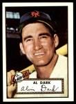 1952 Topps REPRINT #351  Alvin Dark  Front Thumbnail