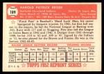 1952 Topps REPRINT #189  Pete Reiser  Back Thumbnail