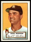 1952 Topps REPRINT #366  Dave Madison  Front Thumbnail