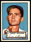 1952 Topps REPRINT #316  Dave Williams  Front Thumbnail