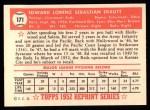 1952 Topps Reprints #171  Ed Erautt  Back Thumbnail