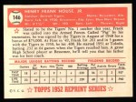 1952 Topps REPRINT #146  Frank House  Back Thumbnail