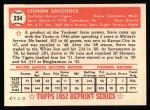1952 Topps REPRINT #234  Steve Souchock  Back Thumbnail