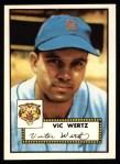 1952 Topps Reprints #244  Vic Wertz  Front Thumbnail