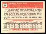 1952 Topps REPRINT #86  Ted Gray  Back Thumbnail