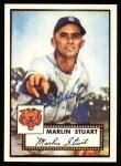 1952 Topps Reprints #208  Marlin Stuart  Front Thumbnail