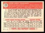 1952 Topps REPRINT #378  Leroy Fusselman  Back Thumbnail