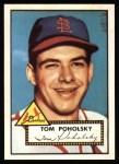 1952 Topps REPRINT #242  Tom Poholsky  Front Thumbnail