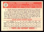 1952 Topps REPRINT #247  Randy Gumpert  Back Thumbnail