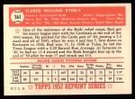 1952 Topps Reprints #161  Bud Byerly  Back Thumbnail