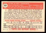 1952 Topps REPRINT #364  Clyde Sukeforth  Back Thumbnail