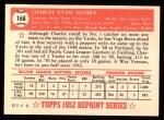 1952 Topps REPRINT #168  Charlie Silvera  Back Thumbnail