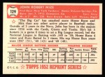 1952 Topps REPRINT #129  Johnny Mize  Back Thumbnail