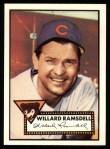 1952 Topps REPRINT #114  Willard Ramsdell  Front Thumbnail