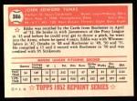 1952 Topps REPRINT #386  Ed Yuhas  Back Thumbnail