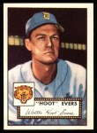 1952 Topps Reprints #222  Hoot Evers  Front Thumbnail
