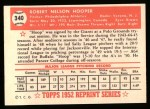 1952 Topps REPRINT #340  Bob Hooper  Back Thumbnail