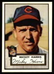 1952 Topps Reprints #207  Mickey Harris  Front Thumbnail