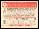 1952 Topps REPRINT #51  Jim Russell  Back Thumbnail