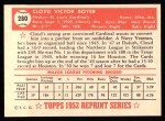 1952 Topps REPRINT #280  Cloyd Boyer  Back Thumbnail