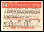 1952 Topps REPRINT #256  Pete Suder  Back Thumbnail