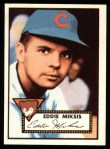 1952 Topps Reprints #172  Eddie Miksis  Front Thumbnail