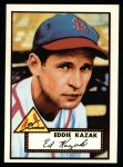 1952 Topps Reprints #165  Eddie Kazak  Front Thumbnail