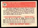 1952 Topps REPRINT #399  Jim Fridley  Back Thumbnail