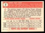 1952 Topps REPRINT #21  Ferris Fain  Back Thumbnail