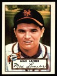 1952 Topps REPRINT #101  Max Lanier  Front Thumbnail