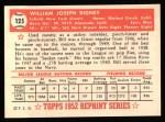 1952 Topps Reprints #125  Bill Rigney  Back Thumbnail