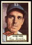 1952 Topps REPRINT #205  Clyde King  Front Thumbnail