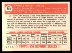 1952 Topps REPRINT #356  Toby Atwell  Back Thumbnail