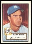 1952 Topps Reprints #215  Hank Bauer  Front Thumbnail