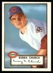 1952 Topps Reprints #323  Bubba Church  Front Thumbnail