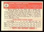 1952 Topps REPRINT #131  Morrie Martin  Back Thumbnail