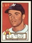 1952 Topps REPRINT #123  Eddie Yost  Front Thumbnail
