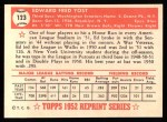 1952 Topps REPRINT #123  Eddie Yost  Back Thumbnail