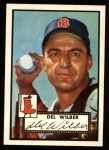 1952 Topps REPRINT #383  Del Wilber  Front Thumbnail