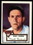 1952 Topps Reprints #164  Walt Dubiel  Front Thumbnail