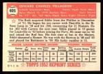 1952 Topps REPRINT #405  Eddie Pellagrini  Back Thumbnail