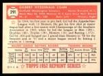 1952 Topps REPRINT #291  Gil Coan  Back Thumbnail