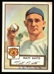 1952 Topps REPRINT #230  Matt Batts  Front Thumbnail