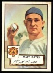 1952 Topps REPRINT #230  Matt Batts  Front Thumbnail