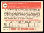 1952 Topps REPRINT #160  Owen Friend  Back Thumbnail