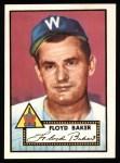 1952 Topps REPRINT #292  Floyd Baker  Front Thumbnail
