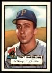 1952 Topps REPRINT #332  Tony Bartirome  Front Thumbnail