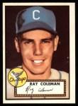 1952 Topps Reprints #211  Ray Coleman  Front Thumbnail